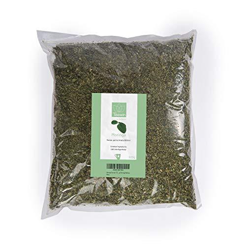 Moringa Tee von TEESEIN® 500 g I Ganze getrocknete Moringa Blätter – 100% natürlich & unbehandelt I Belebend & Wohltuend…