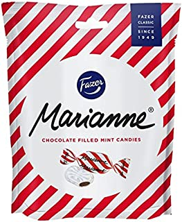 Fazer Marianne Chocolate Filled Mint Candies - Made in Finland - 7.8oz or 220g [Pack of 4]