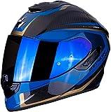 SCORPION 14-276-66-04 Casque Moto, Noir/Bleu, M