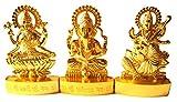 Laxmi Ganesh Saraswati Idol Lakshmi Ganesh Sarasvati Statue 6.5 cm Height