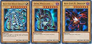 YuGiOh Legendary Collection Single Card Ultra Rare Set of 3 Icon Cards Blue-Eyes White Dragon, Dark Magician & Red Eyes B. Dragon [LC04-LC06]