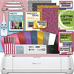 MACHINE BUNDLE: Cricut Rose Maker Machine bundle with tool kit and vinyl in assorted colors. Professional level cutting materials from paper, iron-on and felt, making personalized diy home decor, indoor decals, wall signs, and more! TOOL OPTIONS: Eng...