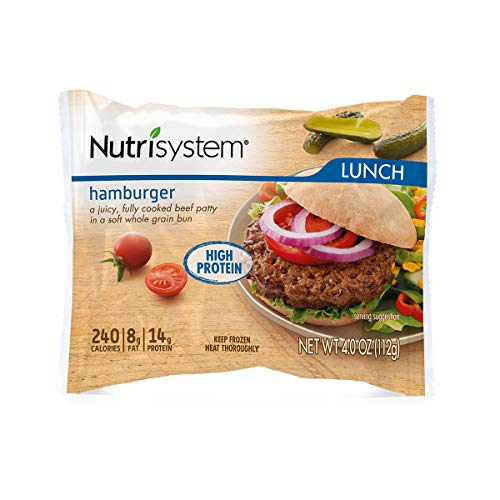 Nutrisystem® Hamburger, 12ct. Frozen Beef Burgers on Whole-Wheat Buns to Support Healthy Weight Loss