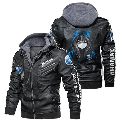 MAUXpIAO Giubbotto bomber in ecopelle per cappotti da corsa Ya.MA-ha stampato giacca a vento Giacca da ciclismo Cycling Lungo/A/L