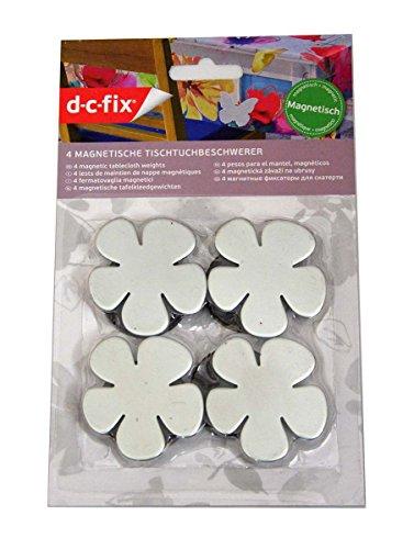 4 Tischtuchbeschwerer / Blumen mit Magnet