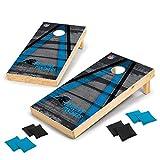 Wild Sports 2' x 4' Wood Tournament Cornhole Set - Direct Printed - Carolina Panthers- perfect for Backyard, Beach, Park, Tailgates, Outdoors and Indoors