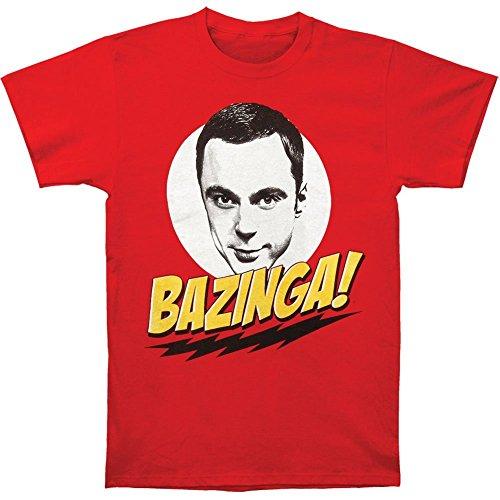 Big Bang Theory Sheldon Face Bazinga! Men's T-Shirt - 4XL Red
