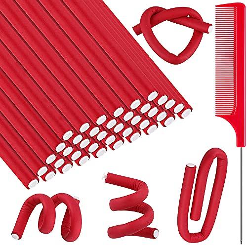 Lockenwickler Curler, DZOAFN 40 Pcs Kein Heat Flexible Papilotten Lockenstäbe für große und kleine Locken