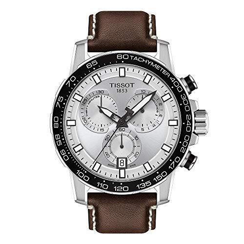Tissot Men's Stainless Steel Swiss Quartz Watch with Leather Strap,...