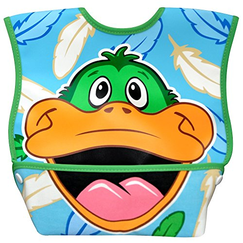 Dexbaby Big Mouth Duck Leak-Proof Dura Bib w/ Catch-All Pocket - Large | 6 months +
