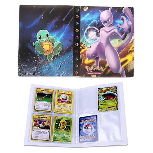 Dorara Tarjeta de Comercio Álbum, GX y EX Cartas Pokemon Álbum, Carpeta Cartas Pokemon, Album Pokemon Puede acomodar 120 Tarjetas Individuales o 240 Tarjetas Dobles (Mewtwo)