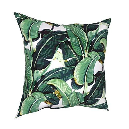 Martinique Bananenblatt-Kissenbezüge 45,7 x 45,7 cm – doppelseitig bedruckt, quadratisch, dekorative Kissenbezüge für Couch, Bett, Auto