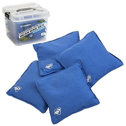 Triumph Sports Cornhole Bags 12-0055BL-2W, 4 Beutel inklusive, Größe 15,2 x 15,2 cm, Blau