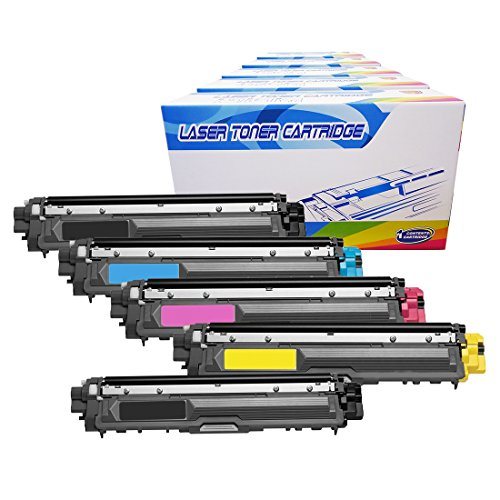 Inktoneram Compatible Toner Cartridges Replacement for Brother TN221 TN225 TN-221 TN-225 High Yield MFC-9340CDW HL-3170CDW HL-3170CW HL-3140CW MFC-9130CW MFC-9330CDW (2-Black,Cyan,Magenta,Yellow,5-PK)