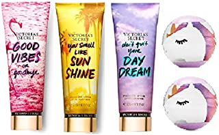 Victoria Secret Lotion Set- Good Vibes or Goodbye, You Smell Like Sunshine, Don't Quit Your Daydream, Cotton Candy Bath Fizzy
