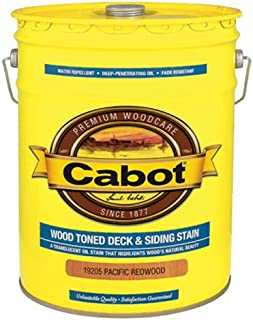 CABOT SAMUEL 19205-08 INC 5GAL Pac RED Deck Stain