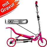 Space Scooter X 580 pink MIT Gravur - inkl. hochwertiger Namensgravur - SpaceScooter Wipproller X580 rosa