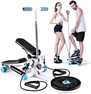 Aaedrag Mini Style Couple Step Swing Step By Step, Aerobic Exercise Fitness Swing Stepper including resistance bands Equip...