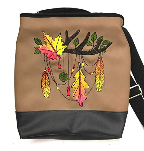 Tasche Umhängetasche Gothic, Mexico, Rose, Saul, Totenkopf, Geschenk Ausgefallene Tasche Einzelstück