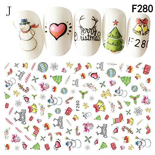 Mini Nagelaufkleber Weihnachten ManiküRe MäDchen SchöN Cartoon Nagel Sticker Diy Aufkleber Tattoo Abziehbilder Art Dekoration Set Nagelkunst Nagelsticker Sticker Selbstklebende