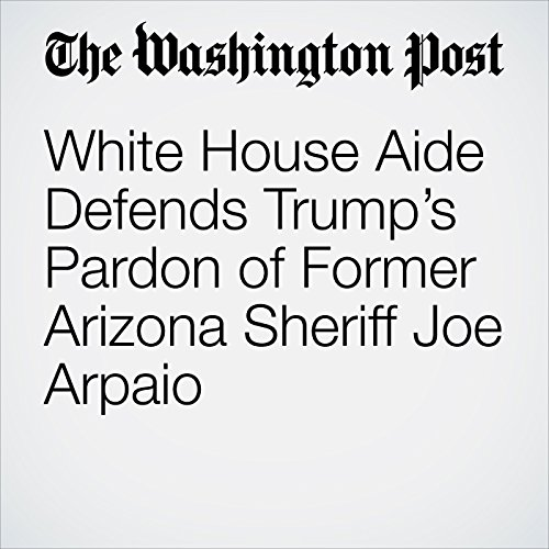 White House Aide Defends Trump's Pardon of Former Arizona Sheriff Joe Arpaio copertina