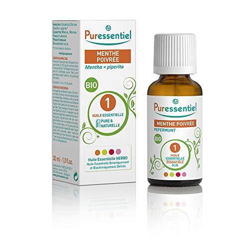 Puressentiel - Huile Essentielle Menthe Poivrée - Bio - 100% pure et naturelle - HEBBD - 30 ml