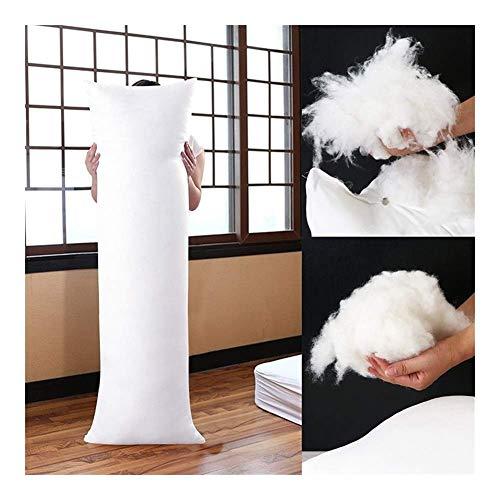 La almohada con memoria para el cuello alivia la f 150x50cm rectángulo largo almohada blanca cuerpo interior para la siesta del sueño almohada de la almohada Dormitorio blanco Ropa de cama Memoria de