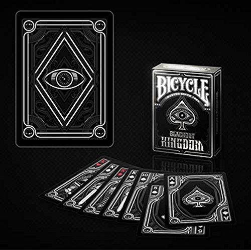 Gamblers Warehouse Jeu 54 Cartes Format Poker - Bicycle Blackout Kingdom