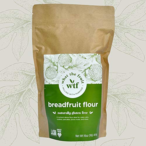 What The Fruit - Breadfruit Flour - Gluten Free Flour For Baking - Makes Gluten Free Waffles - Paleo Flour - Vegan Flour - Low Glycemic Foods - Paleo Pancake - Gluten Free Baking Flour - 16oz