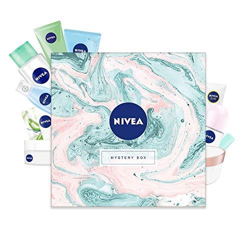 NIVEA Mystery Box Wundertüte Überraschungsbox Geschenkset für Damen in schöner Box, 10-teiliges Pflegeset mit ausgewählten Produkten in Originalgröße für besondere Wohlfühlmomente (Warenwert 42 EUR)