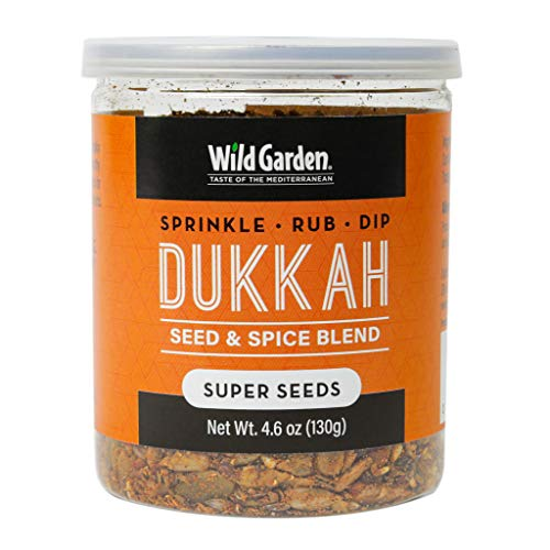 Wild Garden Dukkah Seed and Spice Blend- Super Seeds (4.6oz Jars) Sprinkle on food, Rub on meats, or Dip with olive oil and rustic bread!