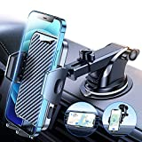 [Military Grade] VICSEED Car Phone Holder Mount, [Thick Case & Heavy Phone Friendly] Upgrade 3 in 1 Phone Mount for Car Dashboard Windshield Air Vent Handsfree Cell Phone Holder Car Fits All Phones