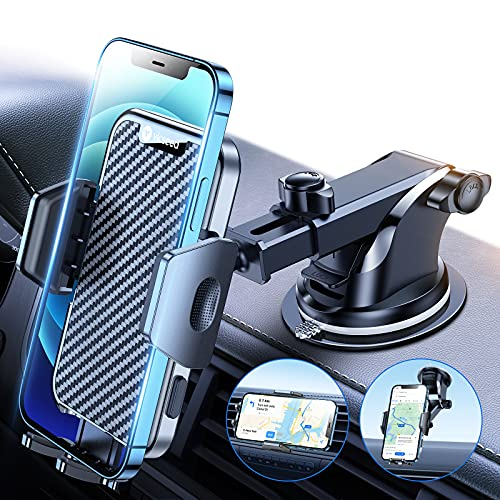 [Military Grade] VICSEED Car Phone Holder Mount, [Thick Case & Heavy Phone Friendly] 4 in 1 Phone Mount for Car Dashboard Windshield Air Vent Handsfree Cell Phone Holder Car Fits iPhone 13 All Phones