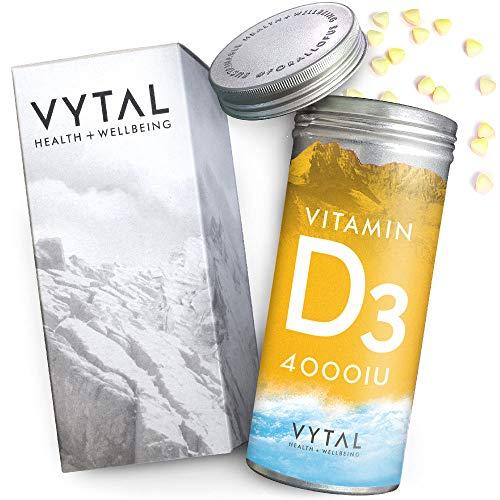 Vegan Vitamin D 4000 iu High Strength Palm Oil Free Supplement - Huge 400 Tablets Pet Pot - Over 1 Year Supply of Vegan Vitamin D from 100% Sustainable Plant Source - Gelatin Free