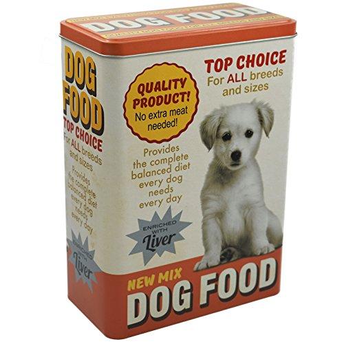 My-goodbuy24 Vorratsdose XL Futterbox für Hunde - Futter aufbewahrung Hundefutter Futter Container aus Aluminum - mit klappbaren Deckel - 24,8 x 18 x 10 cm - bis zu 4 Liter