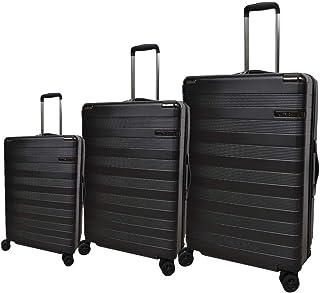 Track Luggage Trolley Bag for Unisex, Black