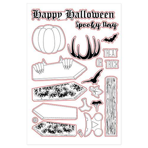 N/A. Sello transparente de silicona para Halloween, diseño de calabaza, álbum de fotos, álbum de fotos, regalo para amigos