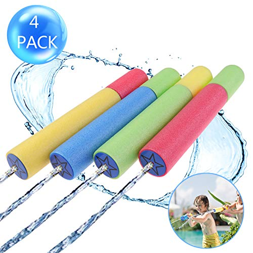4Pcs Foam Water Gun Blaster Squirt Guns Outdoor Water Pool Toys Best Summer Water Cannon in Swimming Pool Beach for Kids