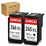 JUNCAI Remanufactured Ink Cartridge Replacement for Canon PG-245XL CL-246XL PG-243 CL-244 Used with Pixma MX492 MX490 MG2420 MG2520 MG2522 MG2920 MG2922 MG3022 MG3029 (1 Black, 1 Tri-Color)