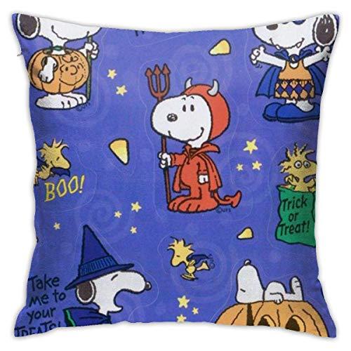 Zjipeung Snoopy Funda de cojn cuadrada para disfraz de Halloween de 45,7 x 45,7 cm, con cremallera oculta para decoracin del hogar
