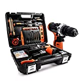 LETTON Power Tools Combo Kit with 16.8V Cordless Power Drill Set and 24pcs Hand Tool Set Combo Kit in Storage Case