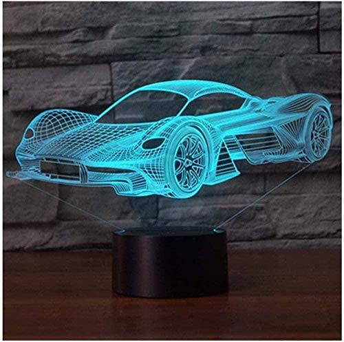 Veilleuses 3D lampe Illusion 3D 16 couleurs changeantes lampe de bureau de Table tactile pour chambre d'enfants avec x d'anniversaire à distance-G-B