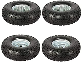 Yaheetech 10-inch Solid Wheelbarrow Trailer Tires Sack Truck Garden Cart Tries Wheel 5/8-inch Bearings for Lawn/Garden/Bea...