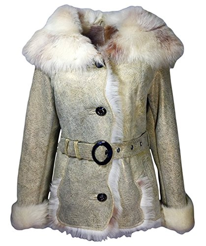 DX Leather Products -  Cappotto - Donna Beige Small