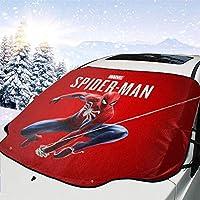 スパイダーマン (6) フロントガラス雪カバー カーフロントカバー 車サンシェード 防水 雪対策 凍結防止カバーほとんどの車 車用サンシェード 軽自動車/Crv車/普通車に適用(147*118cm)四季適用