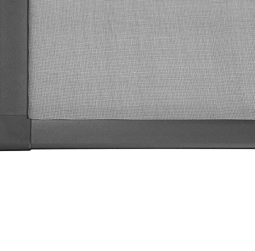 WIP Alu Insektenschutz Schiebetür 120x240cm anthrazit Fliegengitter Tür