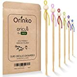 ORINKO - Oriculi en Bambou 6x - Cure Oreille Écologique et Réutilisable pour Remplacement Coton Tige - Zéro Déchet [𝗦𝗮𝘁𝗶𝘀𝗳𝗮𝗶𝘁 𝗼𝘂 𝗥𝗲𝗺𝗯𝗼𝘂𝗿𝘀𝗲 𝗮 𝗩𝗜𝗘]