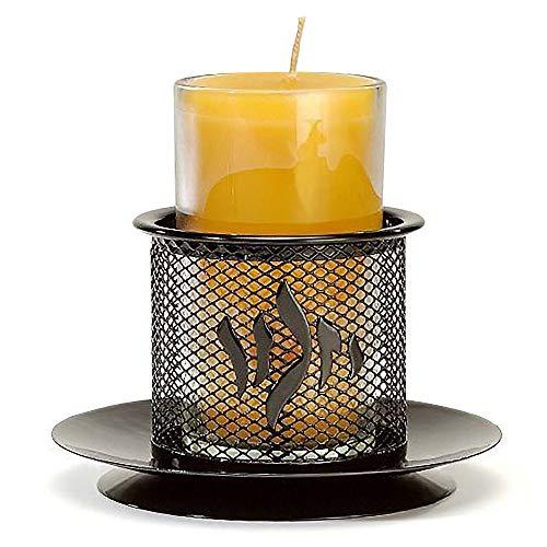Yahrzeit Yizkor Metal Candle Holder - Yartzeit Memorial Decorative Candle Holder - Black