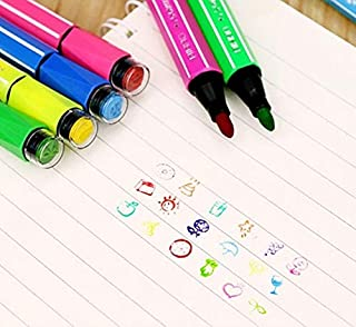 Rianz Drawing Sketch Pens With Stamps/Seal On Pen (Pack Of 12)