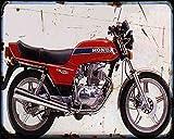 Red Rat Honda Cb400N 78 - Cartello in Metallo A4 per Moto Vintage Invecchiato